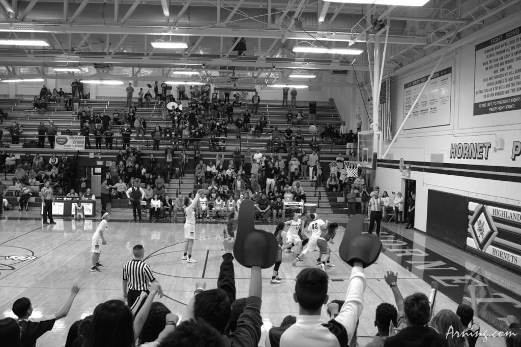 This shot took Highland into double overtime against West Mesa, they lost the game.