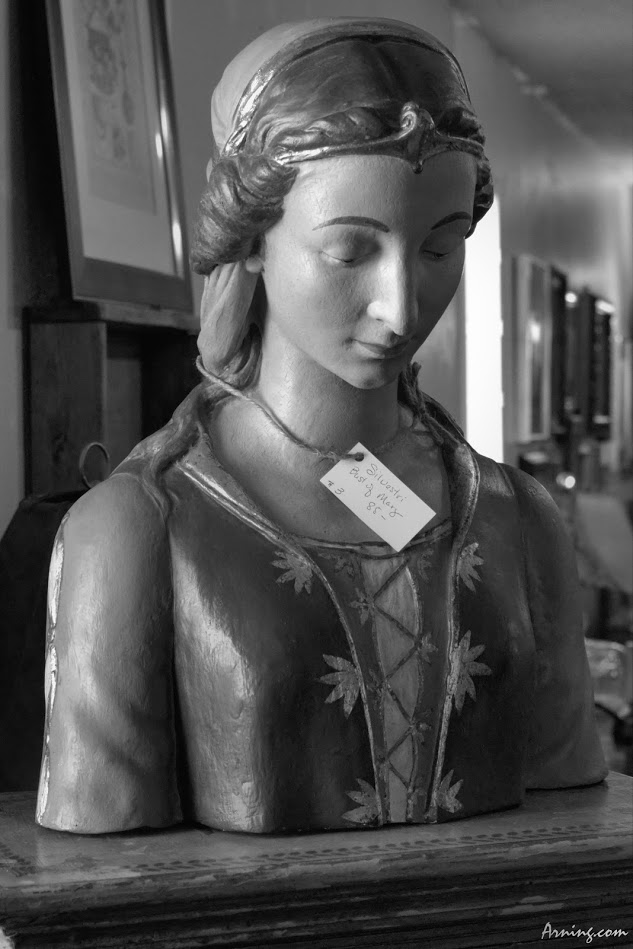 Bust of the Virgin Mary in an antique store just outside Moriarty NM