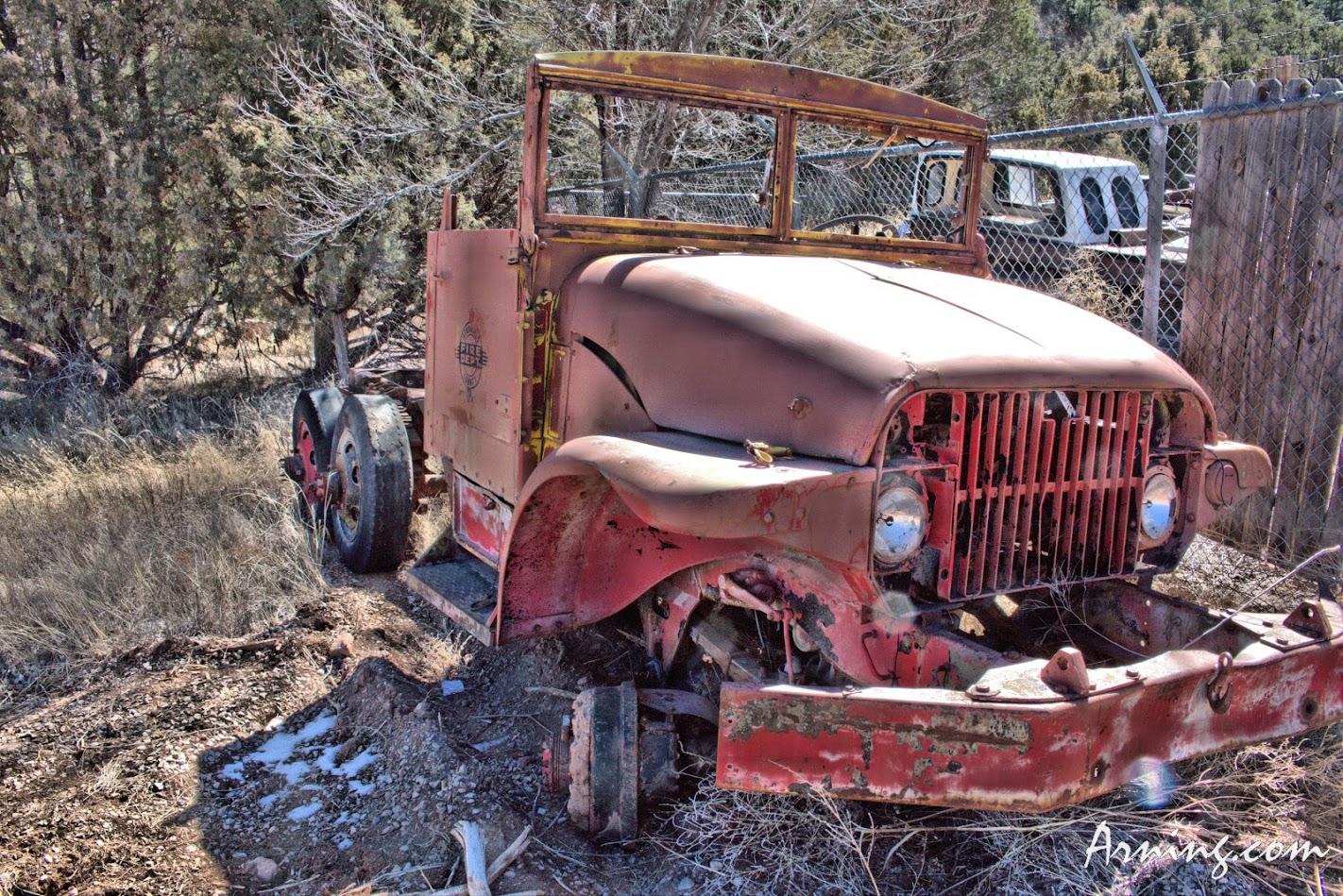 Old firetruck in Cedar Crest off NM 14