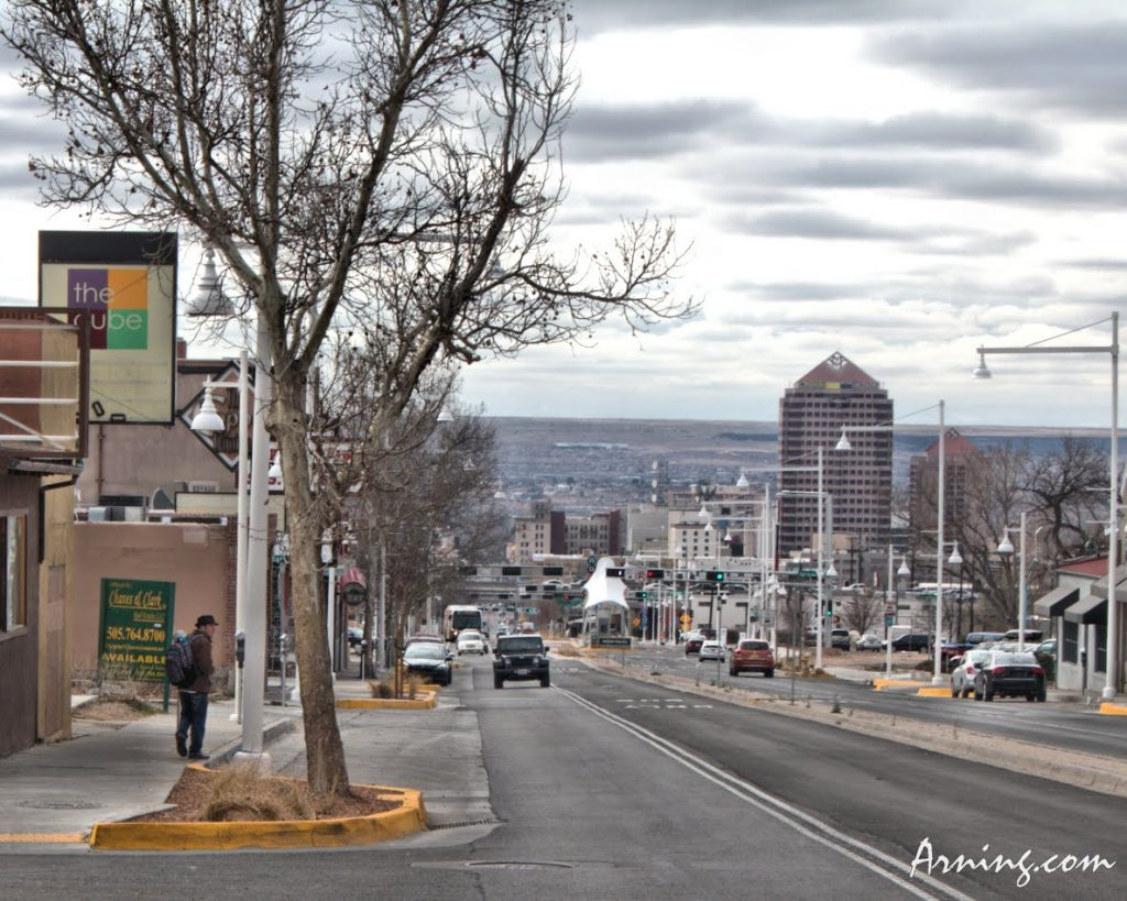 Looking west on Central @ Ash in Albuquerque