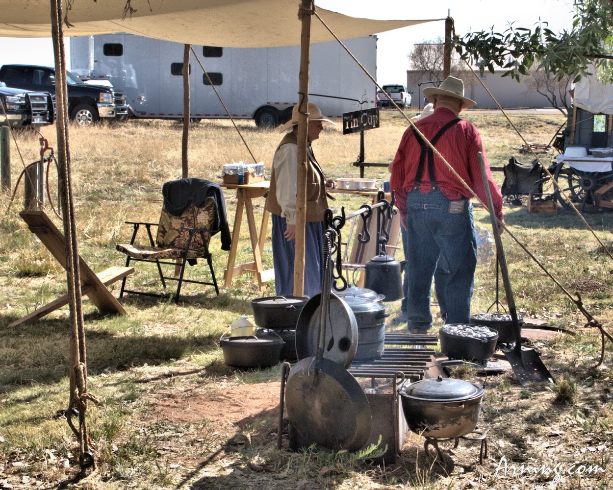 Chuck Wagon cook-off in Logan New Mexico