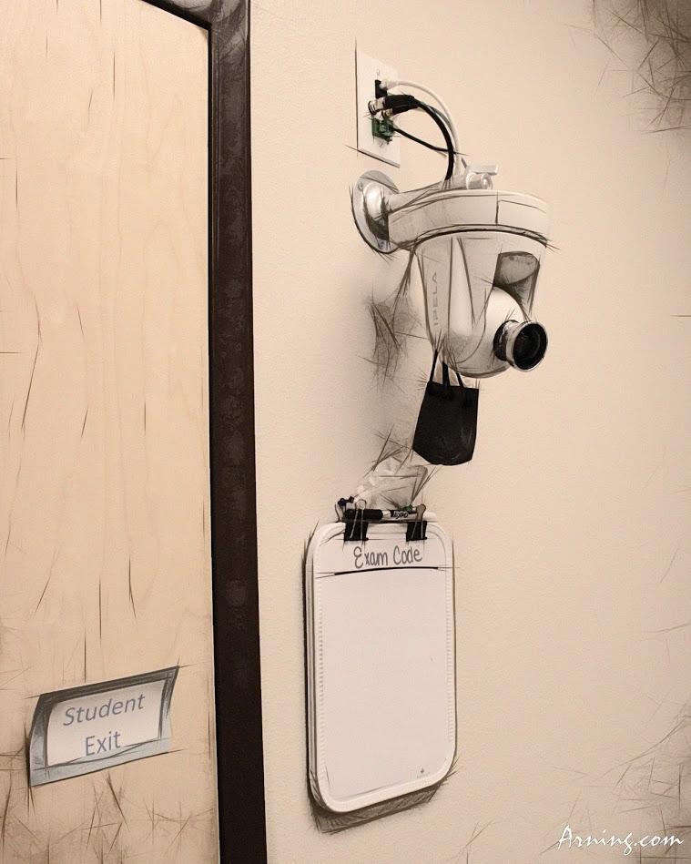 under a microscope