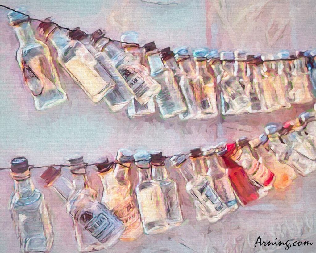 String of Miniature Bottles