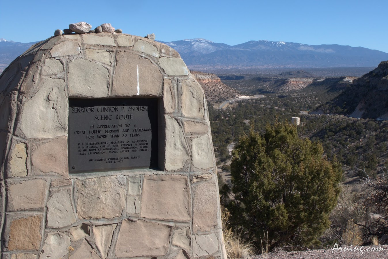 Clinton Anderson Scenic Overlook on NM 502 just outside of Los Alamos