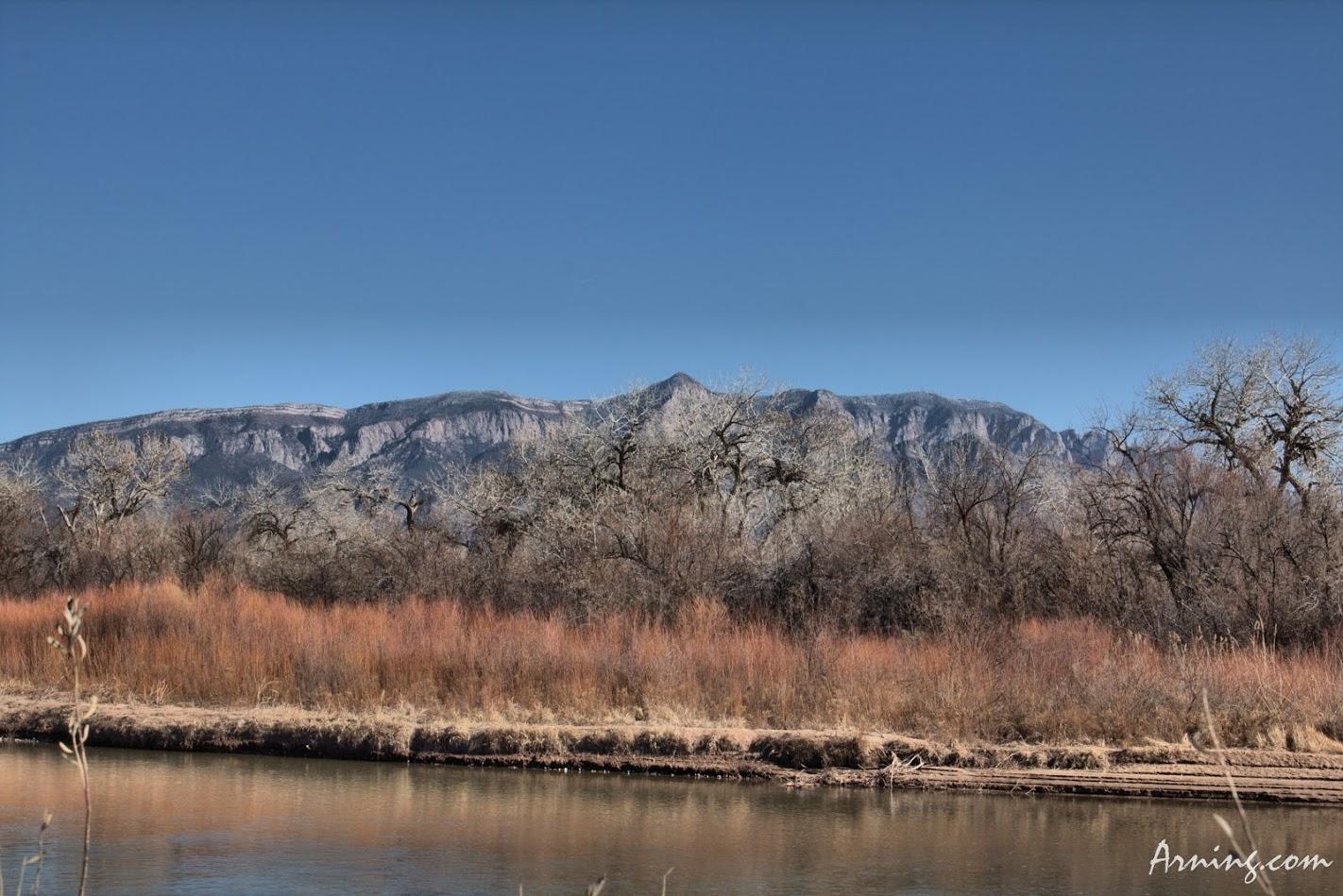 Sandia Mountains from Rio Grande
