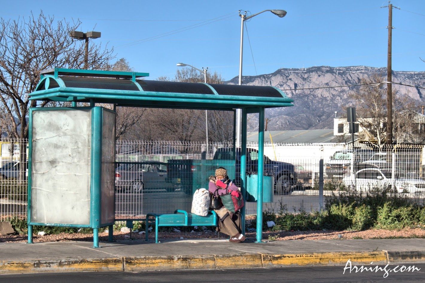 Waiting for a bus
