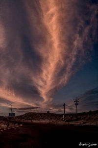 Desert sky in the evening