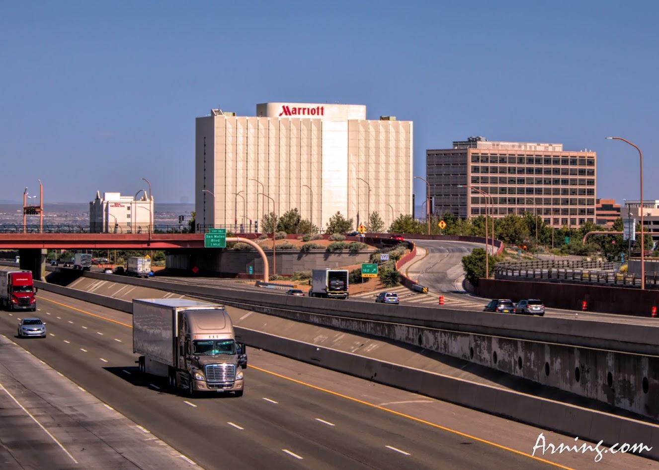 The Louisiana overpass in Albuquerque
