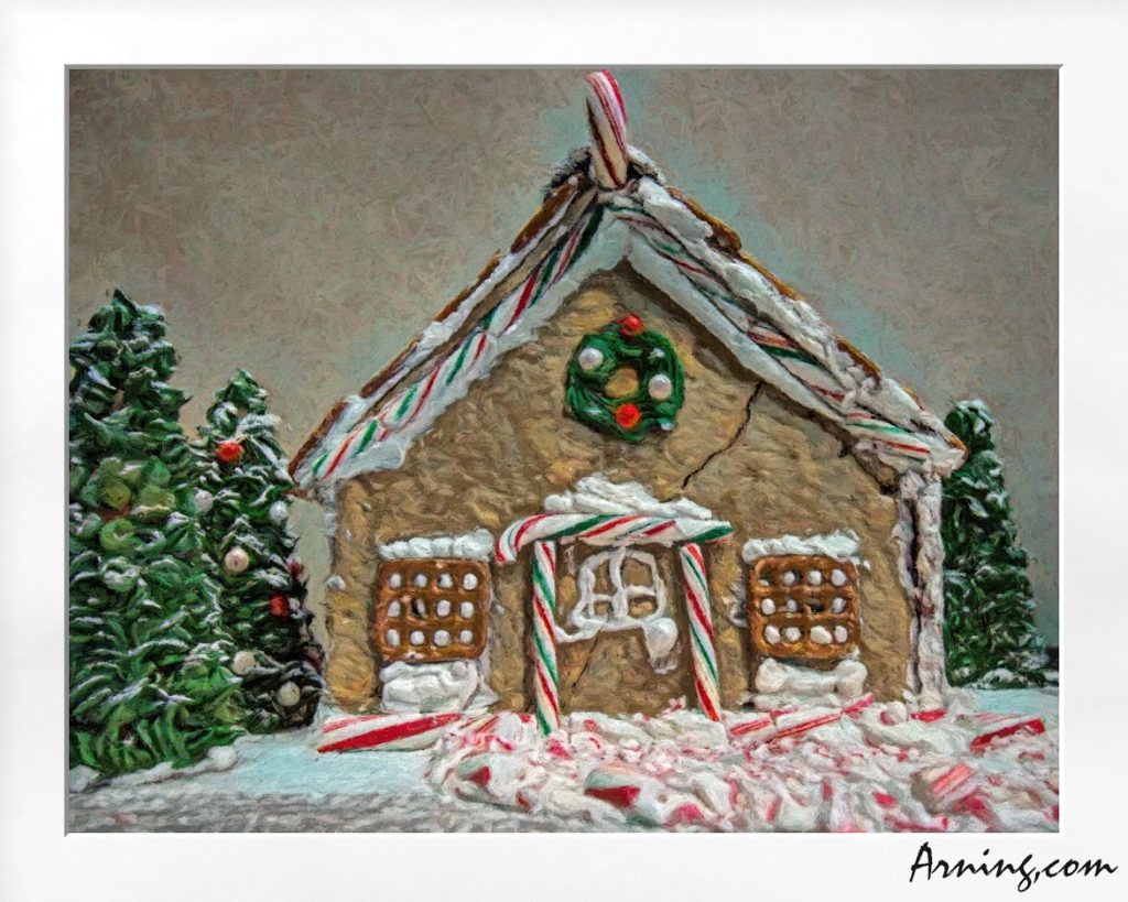 Cracked Gingerbread House