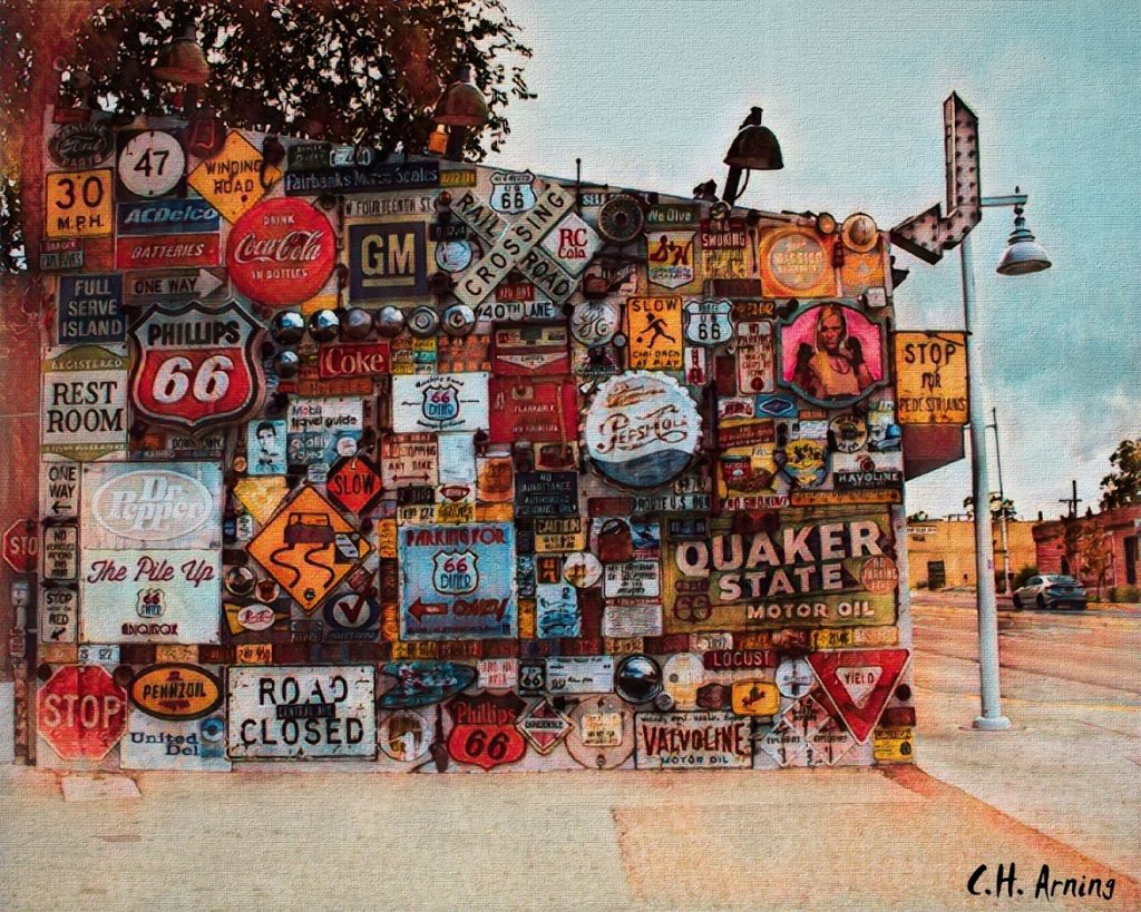 Wall of Signs at the 66 Diner